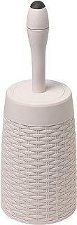 Addis Corbeille en Faux rotin, Plastique, Calico Linen, Toilet Set