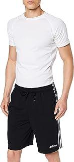 شورت اسينشالز للرجال من اديداس مزين بثلاث خطوط ومصنوع من قماش تيري الفرنسي - قياس M، لون رمادي