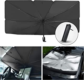 Car Sun Shade for Windshield Foldable Sunshades Umbrella for Car Front Windshield, Easy to Store and Use Protect Vehicle f...