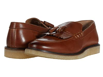 WALK London Del Fringe Tassel Loafer (Tan Leather) Men