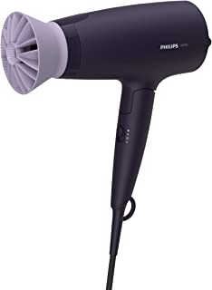 Philips Hair Dryer BHD318/00 1600 Watts Thermoprotect AirFlower Advanced Ionic Care 3 Heat & Speed Settings to Give Frizz ...