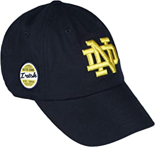 Top of the World Notre Dame Fighting Irish Official NCAA Adjustable Blue EST. 1842 Staple 4 Hat Cap 745541