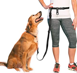 Adjustable Hands Free Dog Leash, Great Waist Leash for Running, Jogging And Training Servive Dog Made in USA by The Buddy System