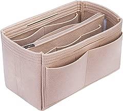 S-ZONE Purse Organizer Insert Felt Inner Pocket Shaper Bag Fits Neverfull Speedy