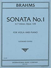 Brahms Johannes Sonata No1 in f minor Op 120 for Viola and Piano - by Davis - International