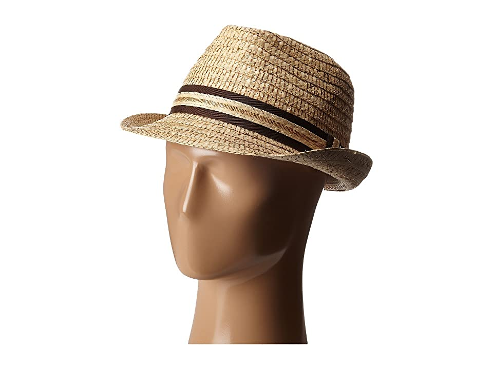 Tommy Bahama Vent Crochet Raffia Fedora X (Tea) Fedora Hats