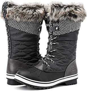 ALEADER Women's Mid-Calf Waterproof Cold-Weather Snow Boots