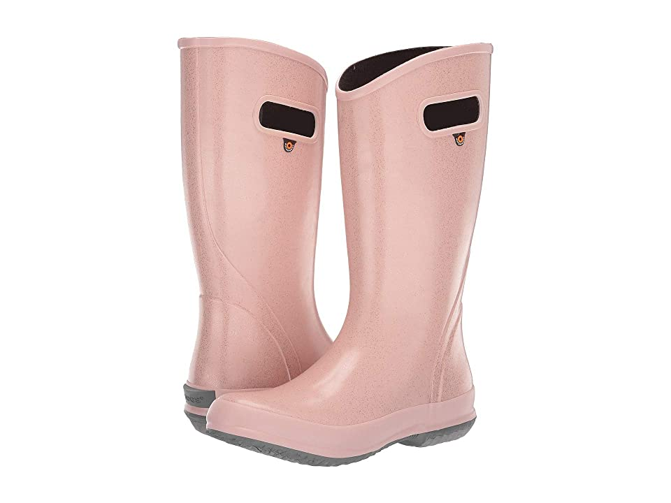 Bogs Rain Boot Glitter (Rose Gold) Women