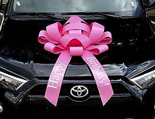 CarBowz Big Pink Car Bow, Happy Birthday Bow, Giant 30