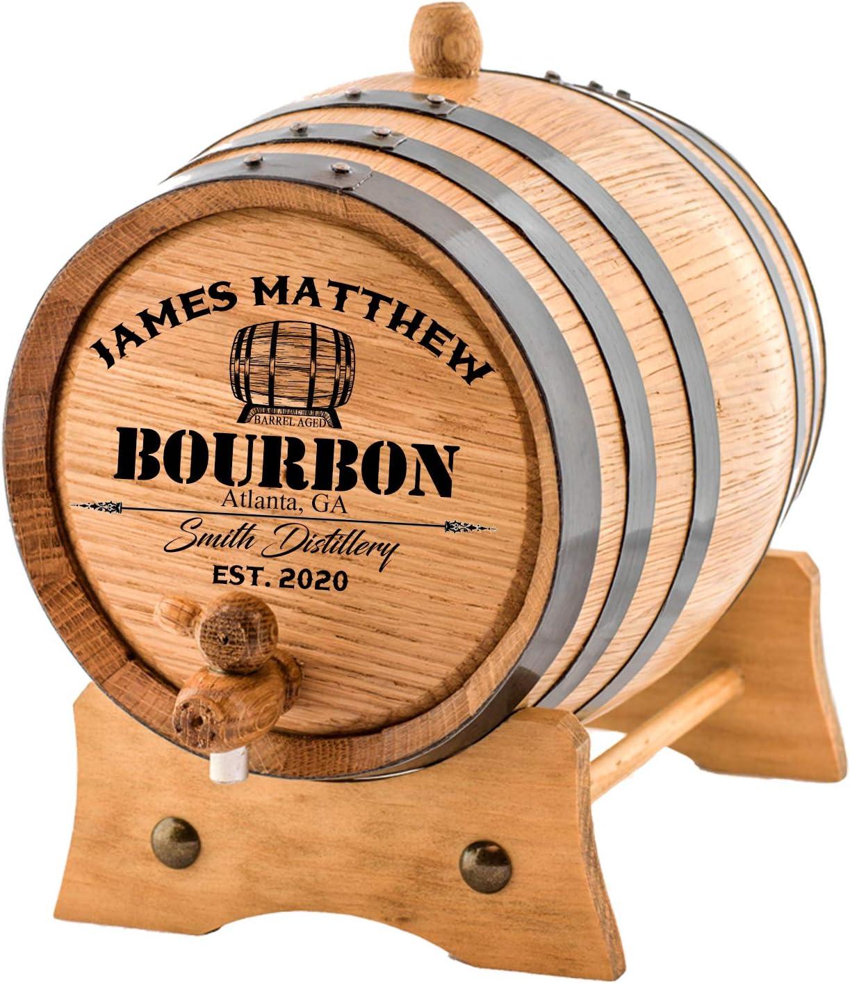 Personalized - Custom American Washington Mall White Barrel Aging Be super welcome Bourbon Oak