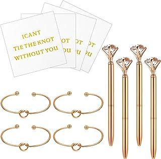 Hicarer 12 Pieces Bridesmaid Sets Stretch Bracelet Knot Cuff Bangle Love Knot Bridesmaid Bracelet Bridesmaid Cards I Can't...