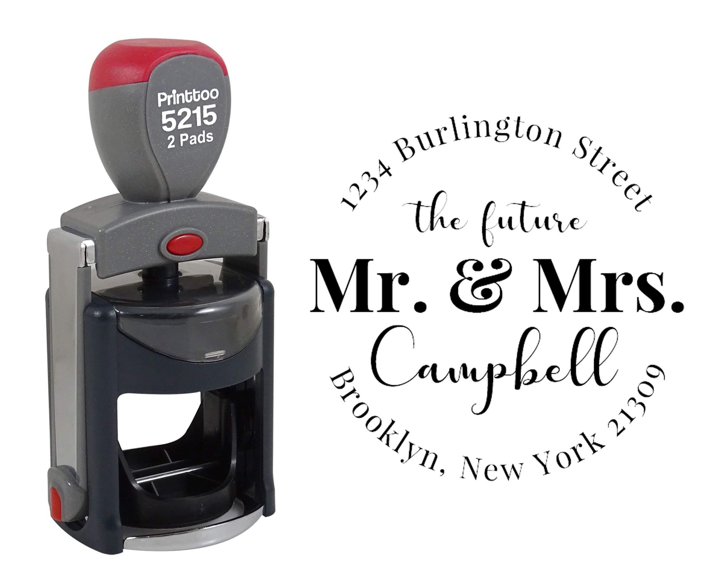 Self-Inking Address Stamp Future Mr and Mrs Calligraphy Script custom Return Address Stamp custom stamp return adrress