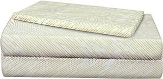 AURAA ESSENTIAL 100% Long Staple Cotton Sheet Set - 3 Piece Set,Soft & Smooth Percale Weave,16