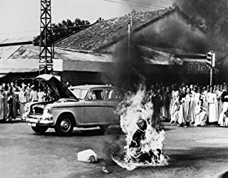 Buddhist Crisis 1963 Nbuddhist Monk Thich Quang Duc (1897-1963) Committing Self-Immolation At An Intersection In Saigon South Vietnam In Protest Against The Anti-Buddhist Measures Of President Ngo Din