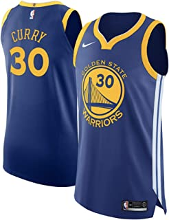 NIKE Golden State Warriors Men's Stephen Curry Blue Authentic Jersey Icon Edition
