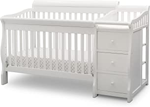 Delta Children Princeton Junction Convertible Crib and Changer, Bianca White