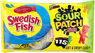 SOUR PATCH KIDS Candy and SWEDISH FISH Candy Halloween Candy Variety Pack, 1 - 115 Trick or Treat Snack Packs