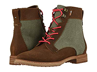 TOMS Nolita (Brown Waxy Suede/Dusty Olive Washed Canvas) Women