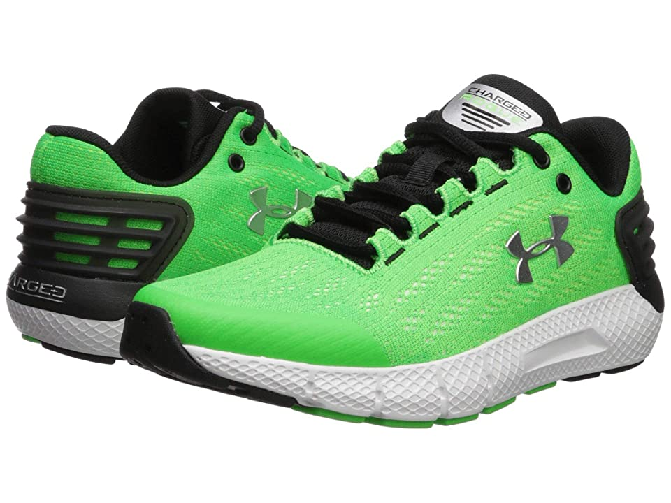 cd11afe9f3d Under Armour Kids UA BGS Charged Rogue Shoes (Big Kid) (Zap  Green White Metallic Silver) Boys Shoes by Under Armour Kids. Style  Boys   Apparel   Accessories ...