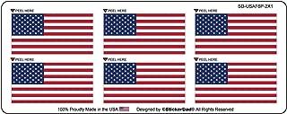 (6 PACK) USA AMERICAN FLAG Vinyl Hard Hat Helmet Decal - size: 2 inch X 1 inch - Hard Hat, Helmet, Windows, Walls, Bumpers, Laptop, Lockers, etc.