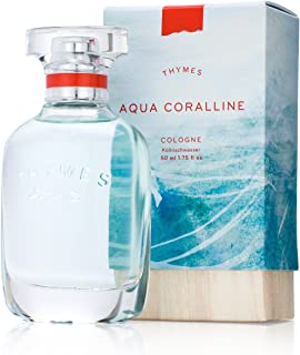 Thymes - Aqua Coralline Cologne - Refreshing Beach Fragrance for Men & Women - 1.75 oz