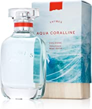Thymes - Aqua Coralline Cologne - Refreshing Beach Fragrance for Men & Women - 1.75 oz