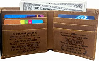 Engraved Mens Wallet Personalized Leather Wallet for Men Husband Dad Son Boyfriend Love Custom Gifts