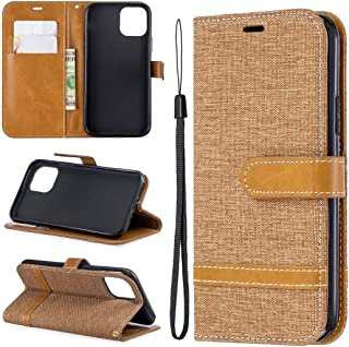 Protect Your Phone, Colored Drawing Pattern Horizontal Flip Leather Case for iPhone XI 2019, with Holder & Card Slots & Wallet for Cellphone. (Color : Brown)