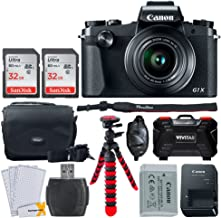 Canon PowerShot G1 X Mark III Digital Camera - Wi-Fi Enabled + 64GB Memory Card + Vivitar Case + Flexible Tripod + Vivitar Hard Case + LCD Screen Protectors – Valued Bundle