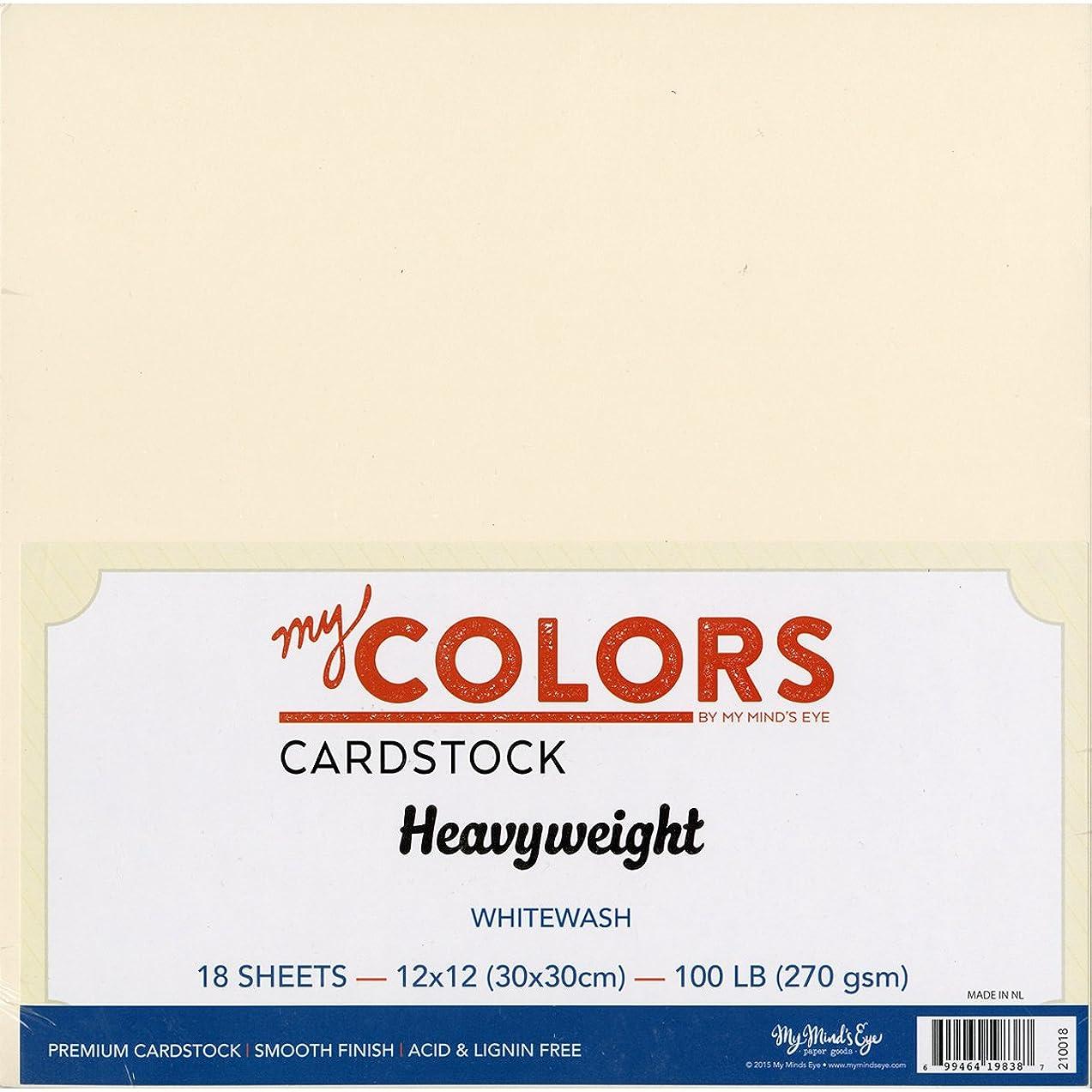 My Colors Heavyweight Cardstock Bundle 18/Pkg-Whitewash