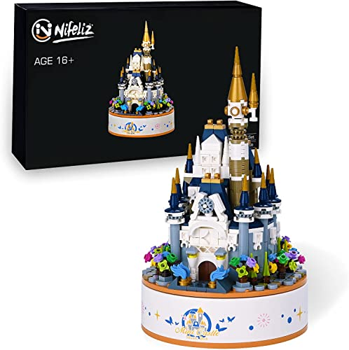 discount Nifeliz discount Home Castle Music Box Building Block Set. Construction Set to Build, 2021 Assembly Toy for Teens and Adult, Makes a Great Gift for People who Like Castle. New 2021 (617 PCS) outlet online sale