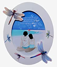 UberLyfe Oval Shaped with Charming Dragonflies Photo Frame - 15.2cm x 20.3cm (PF-000640-DRAG6BY8)