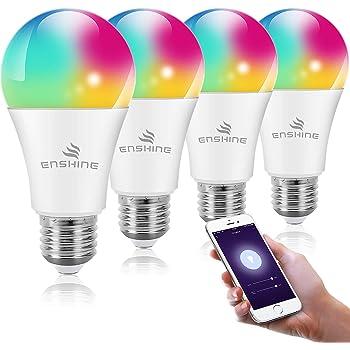 Funciona con Alexa Echo SmartThings Google Home para Control de Fon/ética MoKo WiFi LED Bombilla Inteligente App L/ámpara LED Bombilla Regulable RGB+Luz Blanco C/álido+Fr/ío GU10 5W Temporizador