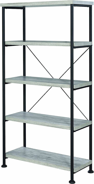 Coaster 801546-CO Grey Driftwood Book Cas, Grey Driftwood