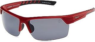 نظارات شمسية باطار مصنوع بتقنية الحقن وعدسات مستقطبة للرجال من تيمبرلاند - بلون احمر بدون لمعة ورمادي موديل TB919367D70