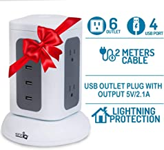 Power Strip Surge Protector Outlet – USB Desktop Charging Station for Multiple Devices Cell Phone Watch Airpods PS4 Xbox Controller at the Same Time