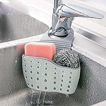 Kitchen Sink Shelf Soap Sponge Drain Rack Holder Double Decker Hanging Basket Storage Suction Cup Kitchen Organizer Sink A...