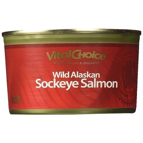Wild Red Alaskan Sockeye Salmon 7.5 Oz (3 Cans)