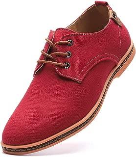 Men's Casual Canvas Lace Up Oxfords Shoes