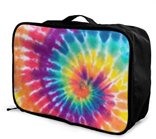 Pride Rainbow Skull Travel Duffel Bag Lightweight Large Capacity Portable Luggage Bag Weekender Carry-on Tote