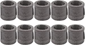 ApplianPar 10 Pack Black Malleable Iron Cast Pipe Fitting 1/2