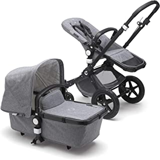 Bugaboo Cameleon3 Plus Classic Complete Stroller, Black/Grey Melange - Versatile, Foldable Mid-Size Stroller with Adjustable Handlebar, Reversible Seat and Car Seat Compatibility