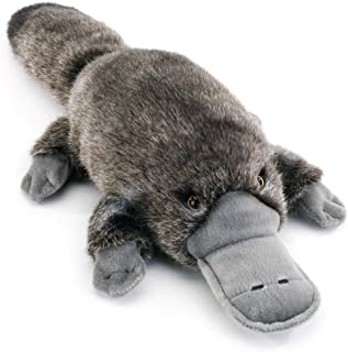 Nat and Jules Swimming Small Platypus Friend Wispy Charcoal Children's Plush Stuffed Animal Toy
