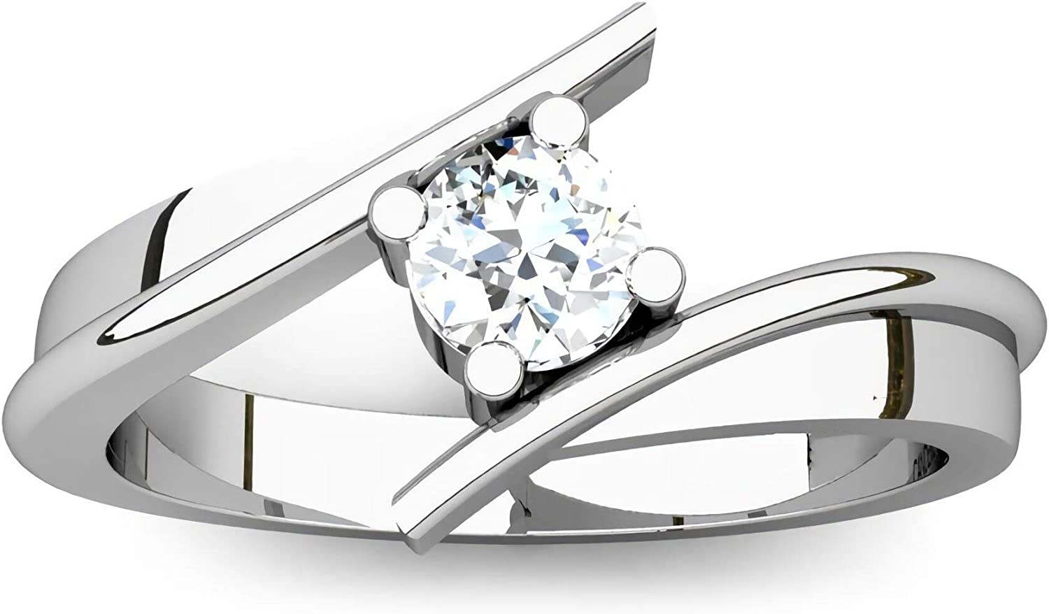 Engagement Ring 1 2 CT Round Cut Outlet SALE Moissanite High quality Solitaire