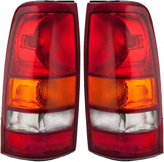 Taillights Tail Lamp Driver and Passenger Replacements for Chevrolet GMC Pickup Truck 19169017 19169018