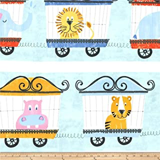 Michael Miller 0563134 Minky Animal Parade Multi Fabric by The Yard, Multicolor