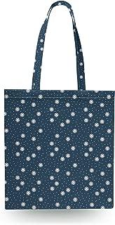 Kawaii Winter Snowflakes Canvas Tote Bag - Open Canvas Tote Bag