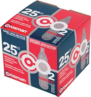 Crosman 12-Gram CO2 Powerlet Cartridges For Use With Air Rifles And Air Pistols (25-Count)