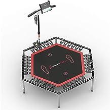 Beursprimeur 2020! Smart fitness trampoline, incl. borstband/polsmeter, sprongenteller & app, opklapbaar, in hoogte verste...