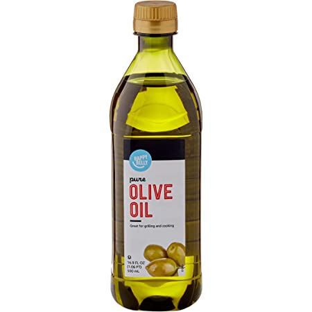 Amazon Brand - Happy Belly Olive Oil, Mediterranean Blend, 16.9 Fl Oz (500mL)